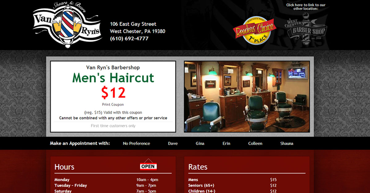 Van Ryns Barbershop West Chester Pa
